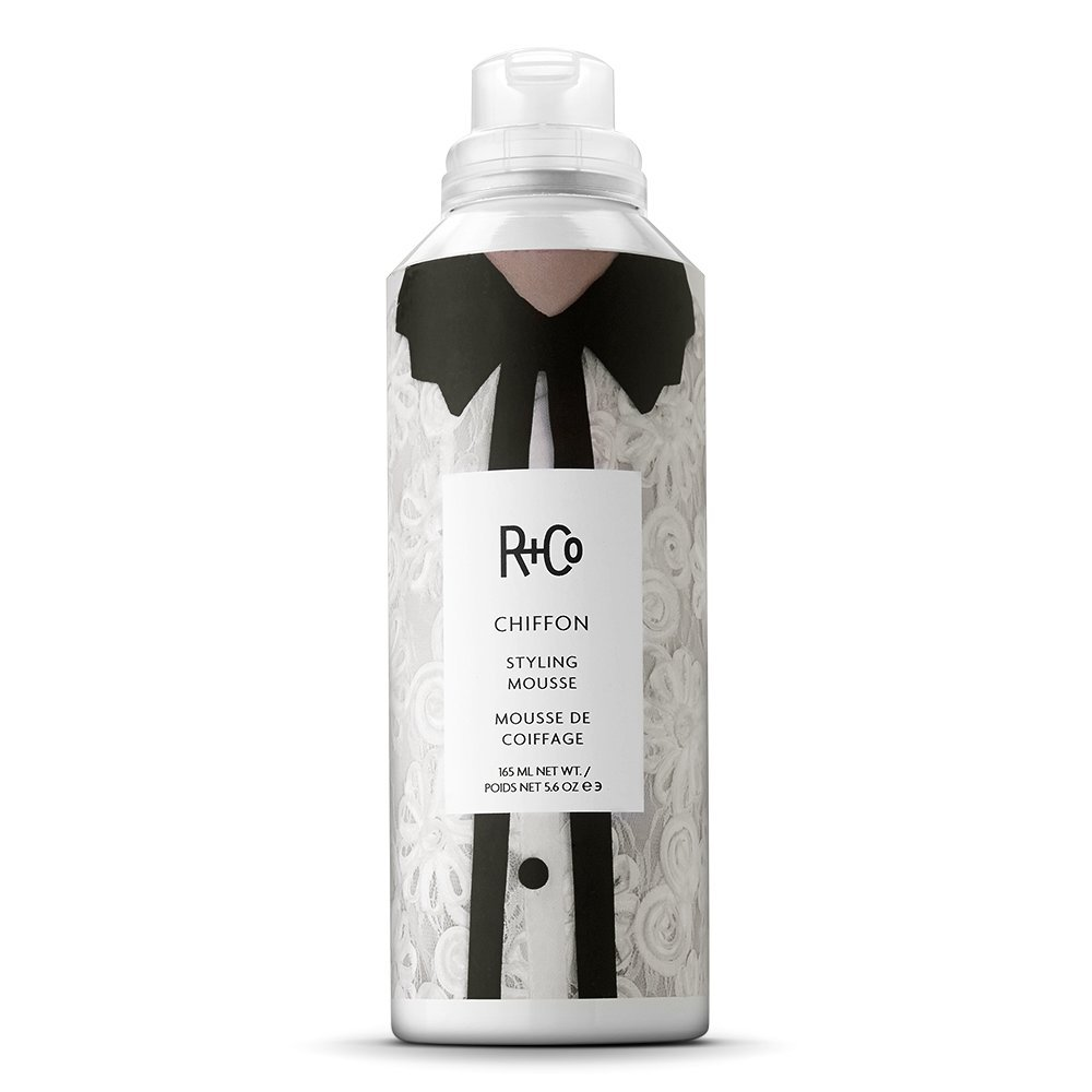 R+Co Chiffon Styling Mousse, Lightweight Mousse for Volume, Body and Shine