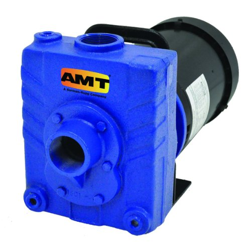 "AMT Pump 2827-95 Self-Priming Centrifugal Pump, Cast Iron, 1/2 HP, 1 Phase, 115/230V, Curve A, 1-1/2"" NPT Female Suction & Discharge Ports"