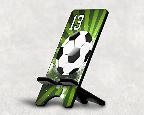 Cell Phone Stand Soccer Ball #6800 Personalized Player Jersey Number On A Universal Docking Charging Station Stand Customized by TYD Designs Number 13