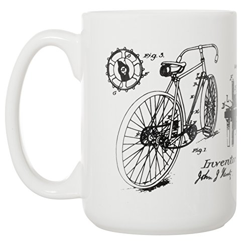 Bicycle J.J. Hentz Patent Blueprint 15 oz Deluxe Large Mug
