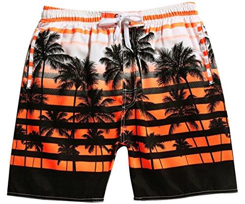 Men's Coconut Hybrid Boardshorts Stretch Surf Beach Shorts Quick Dry Swim Trunks Orange 28 ()