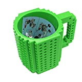 Brick Mugs Fubarbar 12 oz Coffee Cups Funny Tea Mug Beverage Cup Built-on Building Bricks enjoy Creative Time (Green)