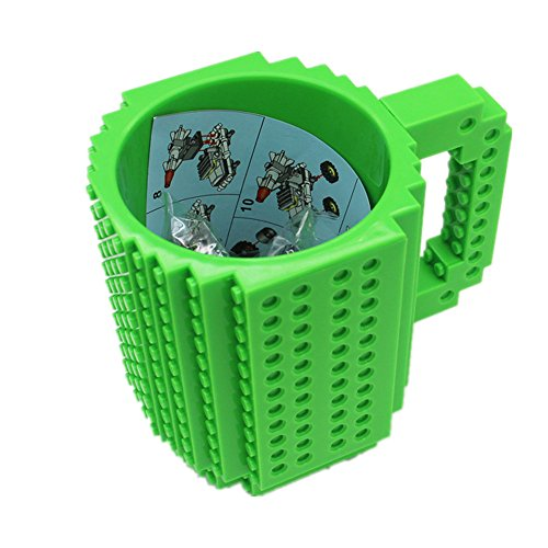 FUBARBAR Build-On Brick Mug - BPA-Free 12ounce Blocks Coffee
