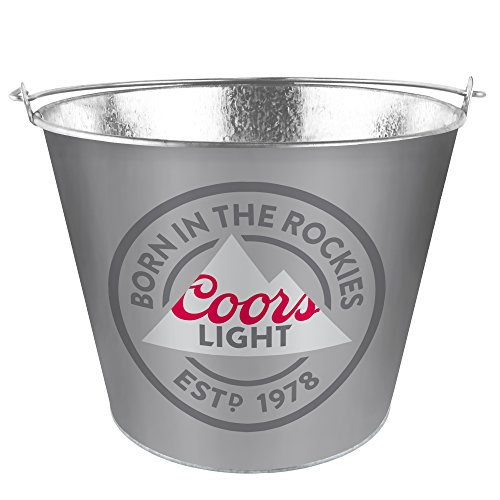 - Boelter Brands Coors Light Metal Bucket, 5 Quarts, Black
