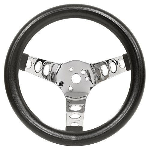 Wheel Steering 10 - Empi 79-4111 Poly-Foam Steering Wheel, Chrome 3 Spoke 10