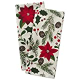 """DII Cotton Decorative Christmas Dish Towel 18 x 28"""" Set of 2, Oversized Kitchen Dish Towels, Perfect Holiday, Hostee, Housewarming Gift-Woodland"""