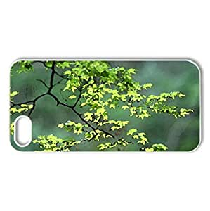 SPRING GREEN - Case Cover for iPhone 5 and 5S (Forests Series, Watercolor style, White)