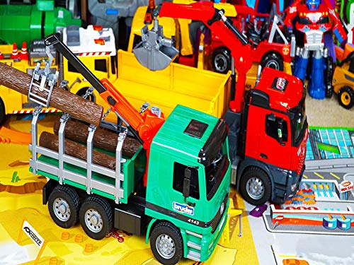 Bruder Logging Truck Toy Unboxing - Kid Playing with Big Toys Collection ()