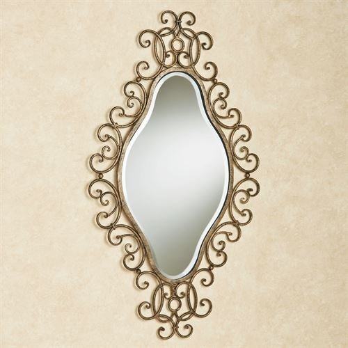 - Touch of Class Diamond Shaped Wall Mirror Antique Gold