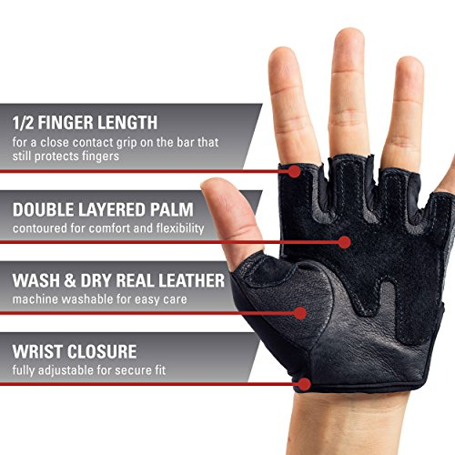Harbinger Pro Non-Wristwrap Weightlifting Gloves With