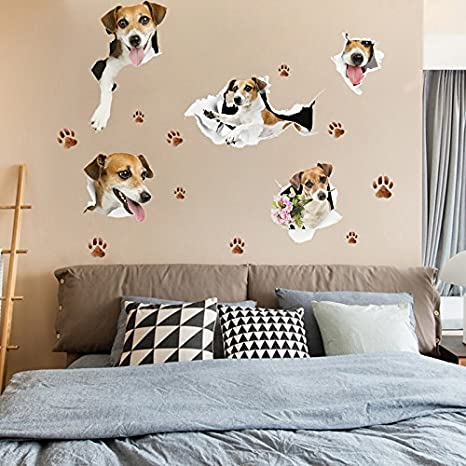 GOUZI El Muro Creativo niño Cama Pared Tiendas de Mascotas Lindo Perro, Perrito, la