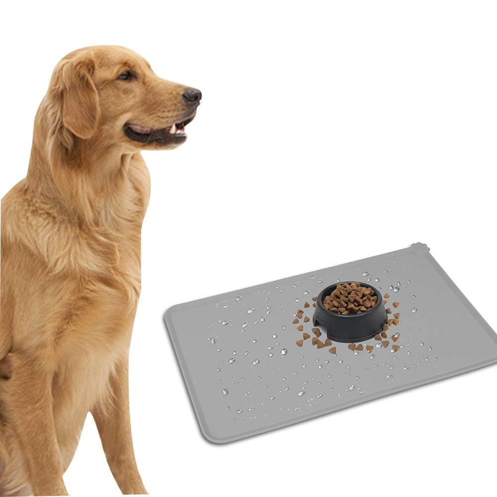 liansheng Folding Dog Bowl Pet Mat Silicone Mat Non-Slip Out of Pocket Waterproof Pet Food Mats Tray by liansheng (Image #4)