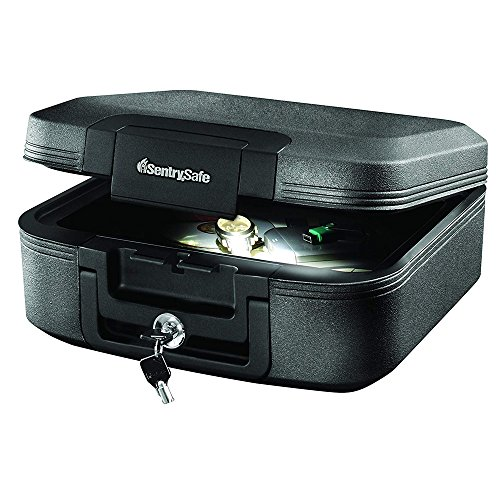 SentrySafe CHW20205 Fireproof Waterproof Box with with Key Lock and Interior Light, 0.28 Cubic Feet