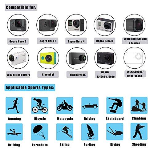 Followsun15-in-1ActionCameraAccessoriesKitCompatible withGoProHero/Session/Hero6543+321CamparkACT74AKASOEK7000CrosstourAPEMANDBPOWERFITFORTENEKAckoLightdowSonySportsDV