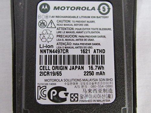 Motorola Li Ion Battery (Motorola Original OEM NNTN4497 NNTN4497CR Li-ion 7.4, 2250mAh High-Capacity Battery - Compatible with CP150, CP200, CP200XLS, CP200D, CP250, PR400)