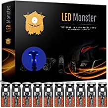 LED Monster 10-Pack Blue 3-SMD LED Bulbs (3030 Chipset) for Car Interior Dome Map Door Courtesy License Plate Lights Extremely Bright Compact Wedge T10 168 194 2828