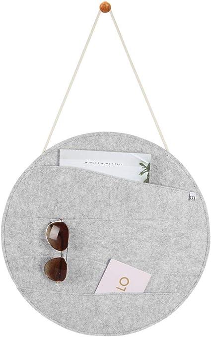 rangement en feutre gris fonc/é mDesign porte courrier mural pour couloir et cuisine rangement mural pratique avec 4 compartiments de rangement larges pour cartes de visite et tickets