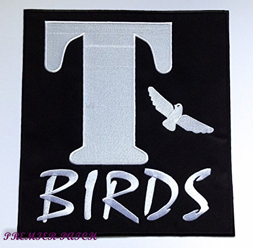 T-Birds Patch XL Embroidered Iron on Badge Applique Grease Costume Jacket 1950's Cosplay Souvenir - Olivia Newton John And John Travolta Grease Costumes