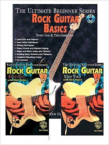 ultimate beginner rock guitar basics mega pak book cd 2 videos the ultimate beginner series