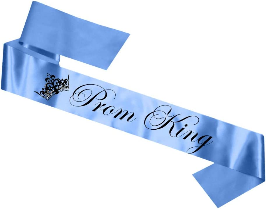 PRIME DELIVERY My Pretty Little Gifts Prom King /& Queen Sash Set for Leavers Do Graduation End of Year Ball