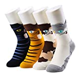 JOYEBUY Womens Cute Animal Cotton Socks Colorful Funny Casual Crew Socks