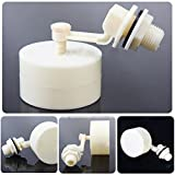 BIN BON - Small Adjustable Plastic Float Valve 1/2''Automatic Solar Water Tank Aquarium Water Level Control Hardware Tools