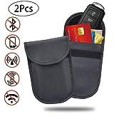 Sunstudious Faraday Bag Key Fob, 2PCS Key Fob Protector RFID Blocking Car Key Signal Blocker Case Cell Phone Anti Radiation Pouch Blocking RFID/WiFi/GSM/LTE/NFC Antitheft Guard