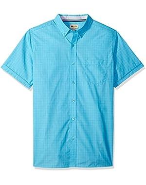Men's Short Sleeve Shirt with Chambrey Trim