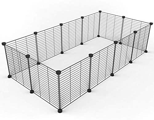 Tespo Pet Playpen Small Animal Cage Indoor Portable Metal Wire Yard Fence