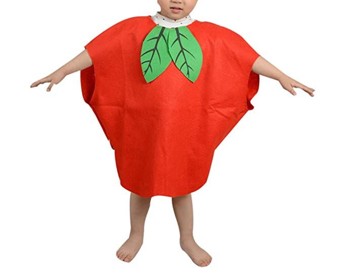 3ab6c0e8bb63 Amazon.com: zhxinashu Kid Lightweight Halloween Costumes Child Role Play  Outfits (Apple): Clothing
