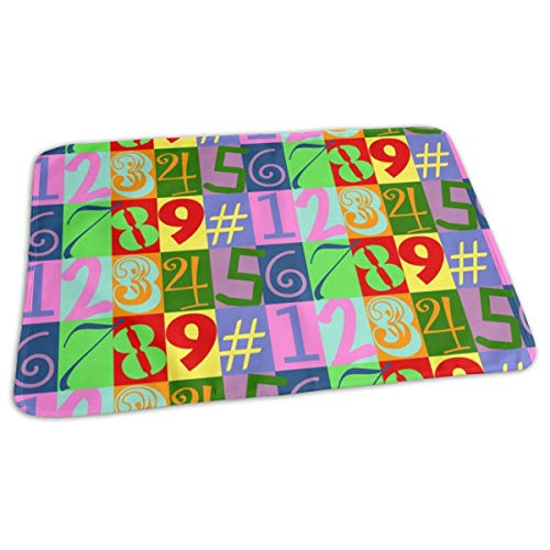 Funky Number Baby Portable Reusable Changing Pad Mat 19.7X 27.5 ()