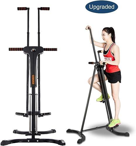 PEXMOR Escalera vertical mejorada, máquina de escalada plegable para gimnasio en casa, máquina de ejercicio escalonada, altura ajustable con pantalla LCD 2.0: Amazon.es: Deportes y aire libre