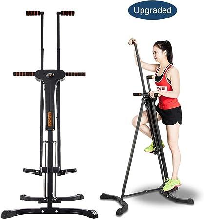 PEXMOR Escalera vertical mejorada, máquina de escalada plegable para gimnasio en casa, máquina de ejercicio escalonada, altura ajustable con pantalla ...