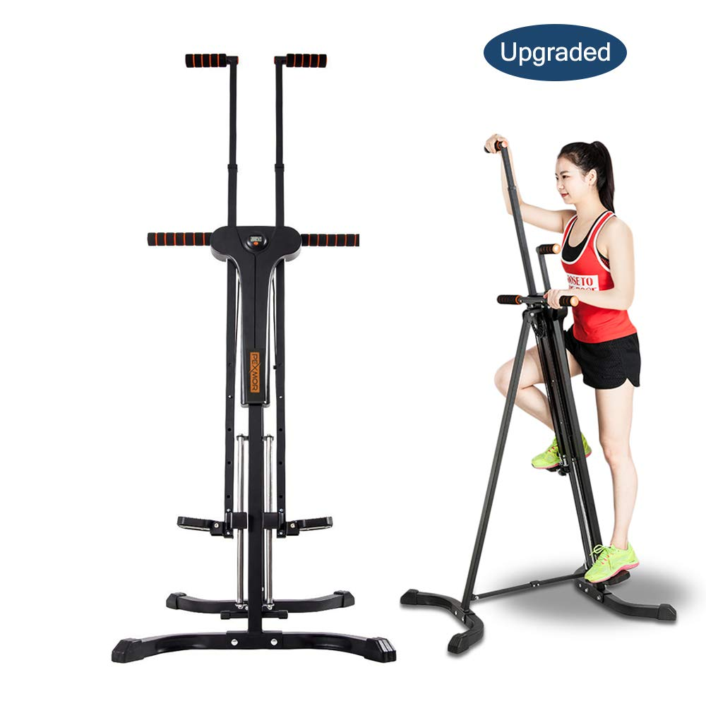 PEXMOR Upgraded Vertical Climber, Folding Climbing Machine for Home Gym Fitness, Stepper Climber Exercise Machine, Adjustable Height with LCD Display 2.0 by PEXMOR (Image #1)