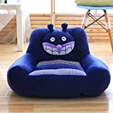 WAYERTY Children's Armchair, Children Sofa Cute Cartoon Baby Small Sofa Tatami Upholstered Kid Chair Boys and Girls Birthday Gifts-Blue A 60x44x33cm(24x17x13inch)