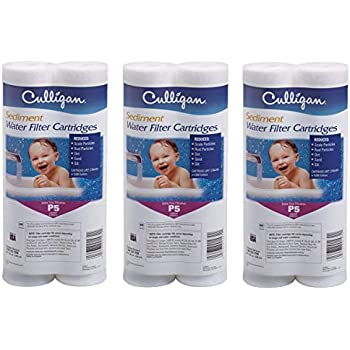 Culligan P5 Whole House Premium Water Filter, 8,000 Gallons, 3 Pack, Sold as 6 Filters