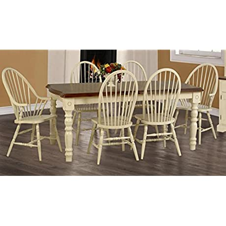 Bridgewater Table In Buttermilk And Cherry Finish 734131