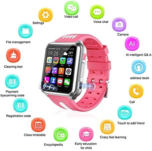 Smart Watches for Kids, GPS LBS Tracker 4G Phone Watch with Dual Camera/SIM Card Slot for Call/Message/WeChat Video Voice Chat/Game/WiFi 51RrBOF98aL
