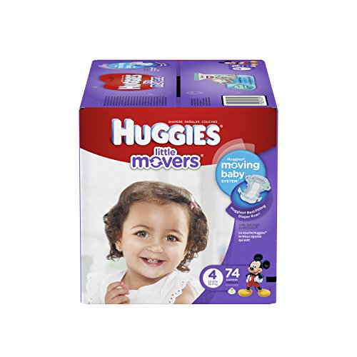 HUGGIES Little Movers Diapers, Size 4, 74 Count
