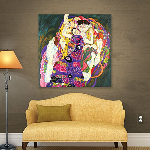 ArtWall Gustav Klimt's Virgins Gallery Wrapped Canvas, 14 by 14