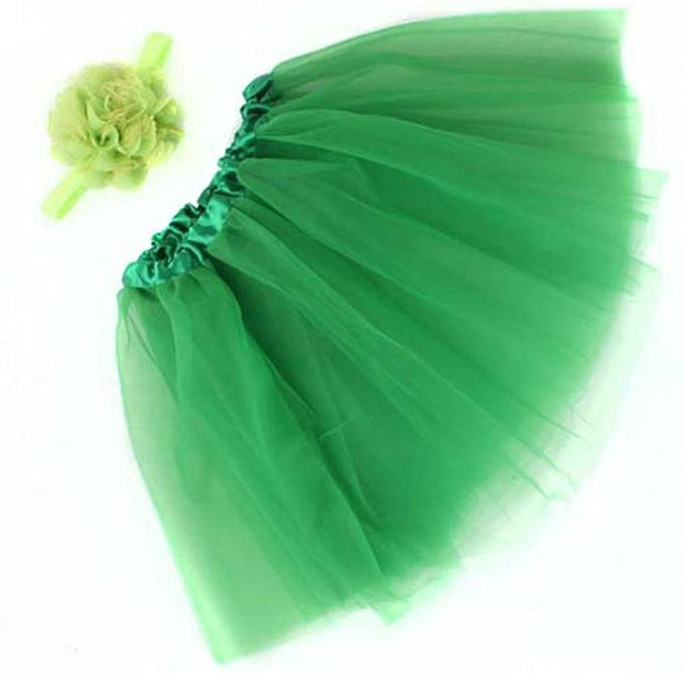 Newborn Toddler Puff Tutu Skirt Headband Flower Photography FTXJ Baby Girls Skirt