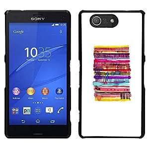 // PHONE CASE GIFT // Duro Estuche protector PC Cáscara Plástico Carcasa Funda Hard Protective Case for Sony Xperia Z3 Compact / Pancake White Minimalist Food /