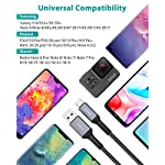 Nimaso-Cavo-USB-C-2-Pezzi-2m-2m-Cavo-USB-Type-C-Ricarica-Rapida-e-Trasmissione-Intrecciato-in-Nylon-Compatibile-per-Samsung-Galaxy-S10S9S8A7A5Note-8-Huawei-P30P20-Sony-LG-HTC-ECC