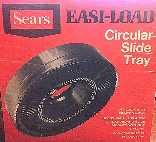 Sears Easi-Load Circular Rotary Slide Projector Tray for 100 2x2 slides