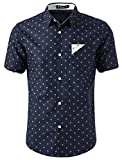 Best Anchor Shirts - uxcell Men Point Collar Button Up Short Sleeves Review