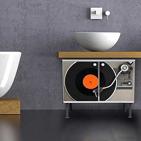 banjado - Armario baño 60 x 55 x 35 cm Diseño Armario para Lavabo ...