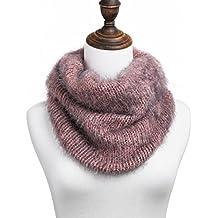ChikaMika Infinite Scarf for Women Cozy Scarf for Girls 100% Cashmere Warm Infinity Scarves