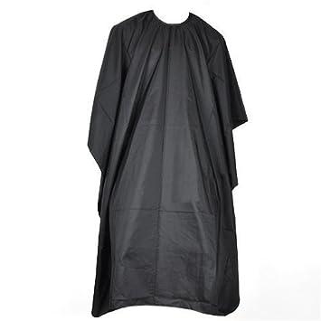 Bata negra de peluquería para corte de pelo; capa de barbero; cobertor de tela para peluquería.: Amazon.es: Belleza