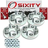 """Sixity Auto 4pc 1.25"""" Thick 5x4.25"""" to 5x4.5"""" Wheel Adapters Pickup Truck SUV Loctite"""