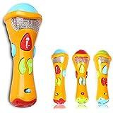 Itian Microphone Jouets pour Enfants - Enregistrement, Transform Acoustic, Chansons et éclairage